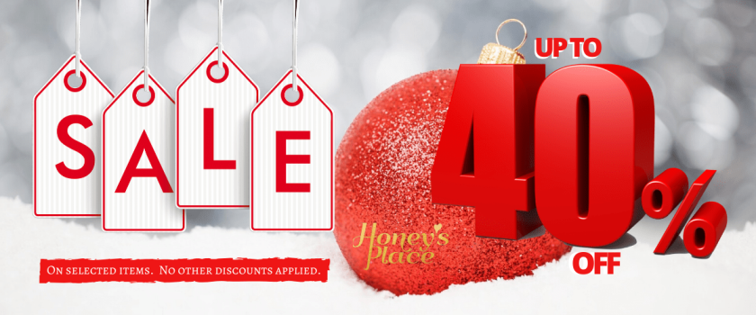 Save Up To 40% Off at www.honeysplace.com